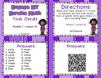 Engage NY - Eureka Math  Module 7: Lesson 16 Task Cards