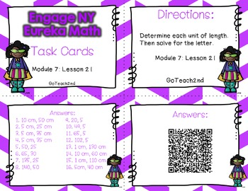Engage NY - Eureka Math  Module 7: Lesson 21 Task Cards