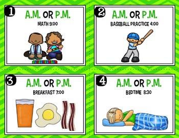 Engage NY - Eureka Math  Module 8: Lesson 15 Task Cards a.m. or p.m.