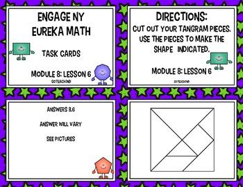 Engage NY - Eureka Math  Module 8: Lesson 6 Task Cards