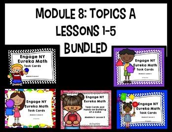 Engage NY - Eureka Math  Module 8: Topic A Lessons 1-5 BUNDLED Task Cards