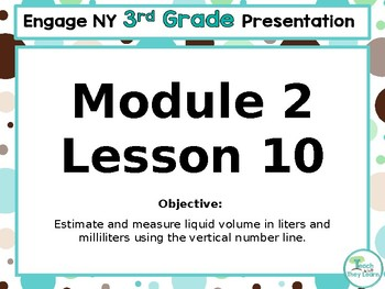 Engage NY/Eureka Math PowerPoint Presentation 3rd Grade Module 2 Lesson 10