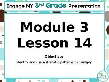 Engage NY/Eureka Math PowerPoint Presentation 3rd Grade Module 3 Lesson 14