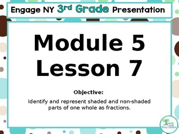 Engage NY/Eureka Math PowerPoint Presentation 3rd Grade Module 5 Lesson 7