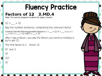 Engage NY/Eureka Math PowerPoint Presentation 3rd Grade Module 6 Lesson 5