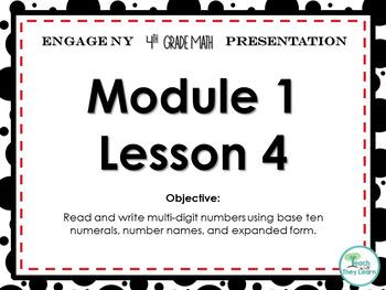 Engage NY/Eureka Math PowerPoint Presentation 4th Grade Module 1 Lesson 4