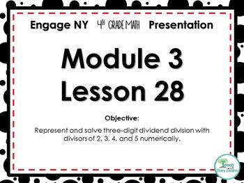 Engage NY/Eureka Math PowerPoint Presentation 4th Grade Module 3 Lesson 28