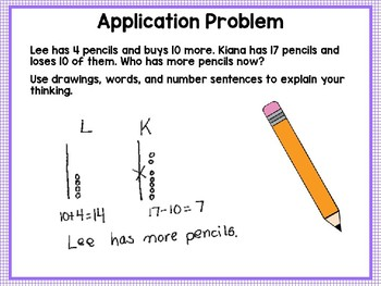 Engage NY (Eureka Math) Presentation 1st Grade Module 4 Lesson 5