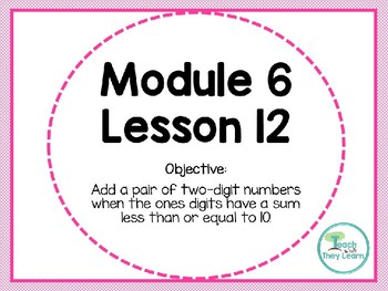 Engage NY/Eureka Math PowerPoint Presentation 1st Grade Module 6 Lesson 12