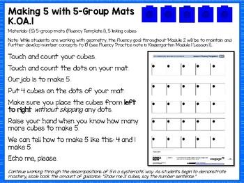 Engage NY (Eureka Math) Presentations Kindergarten Module 2 Topic A Lessons 1-5