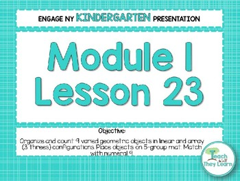 Engage NY/Eureka Math Presentations Kindergarten Module 1 Lesson 23