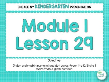 Engage NY/Eureka Math PowerPoint Presentations Kindergarten Module 1 Lesson 29