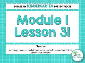 Engage NY/Eureka Math Presentations Kindergarten Module 1 Lesson 31