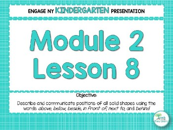 Engage NY/Eureka Math Presentations Kindergarten Module 2 Lesson 8