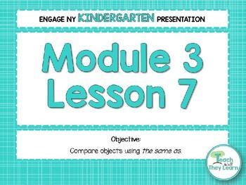 Engage NY/Eureka Math PowerPoint Presentations Kindergarten Module 3 Lesson 7