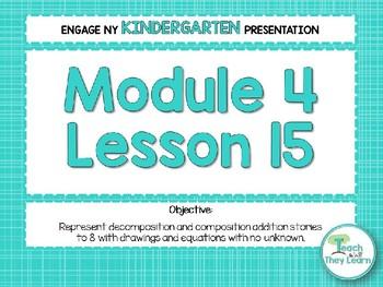 Engage NY/Eureka Math PowerPoint Presentations Kindergarten Module 4 Lesson 15