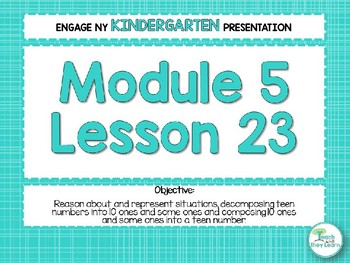 Engage NY/Eureka Math Presentations Kindergarten Module 5 Lesson 23