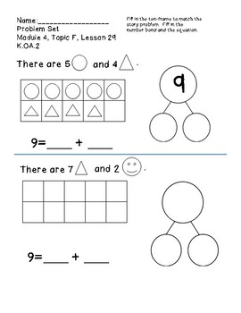 Engage NY / Eureka Math Replacement Sheets Module 4, Topic F