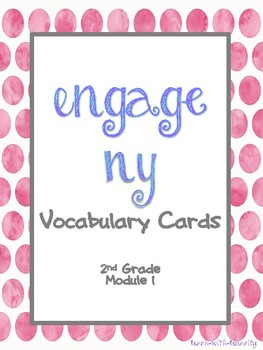 Engage NY/Eureka Math Second Grade Module 1 Vocabulary Cards