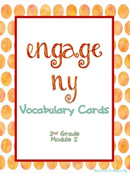 Engage NY/Eureka Math Second Grade Module 5 Vocabulary Cards