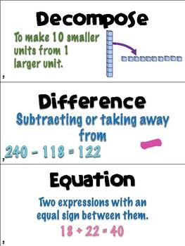 Engage NY/Eureka Math Second Grade Module 5 Vocabulary Cards
