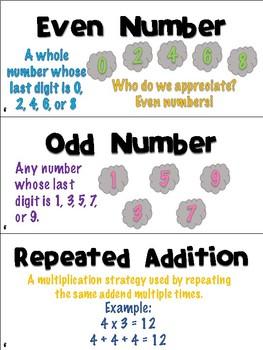 Engage NY/Eureka Math Second Grade Module 6 Vocabulary Cards