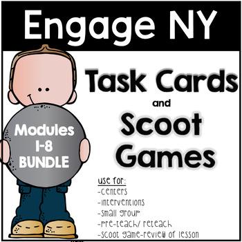 Engage NY Eureka Math Task Cards Modules 1-8 BUNDLED!