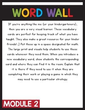 Engage NY/Eureka Math Word Wall Module 2