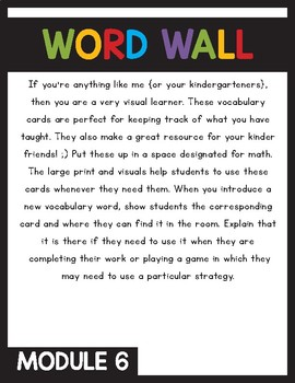 Engage NY/Eureka Math Word Wall Module 6