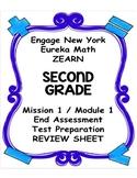Engage NY Eureka Math Zearn SECOND GRADE Module 1 End Asse