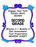 Engage NY Eureka Math Zearn SECOND GRADE Module 2 End Assessment Review Sheet
