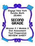 Engage NY Eureka Math Zearn SECOND GRADE Module 2 End Asse