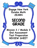 Engage NY Eureka Math Zearn SECOND GRADE Module 3 End Assessment Review Sheet