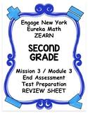 Engage NY Eureka Math Zearn SECOND GRADE Module 3 End Asse