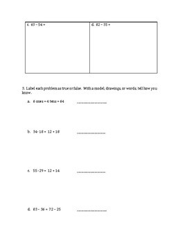 Engage NY Eureka Math Zearn SECOND GRADE Module 4 Mid-Assessment Review Sheet