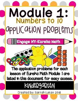 Engage NY Eureka Math Module 1 Application Problems
