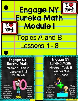 Engage NY (Eureka) Module 1 Bundle (Topics A and B) Lesson 1-8 2nd Grade