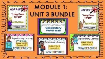 Engage NY Expeditionary Learning 3rd Grade M1:Unit 3 BUNDLE