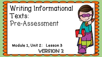 Engage NY Expeditionary Learning 3rd Grade Module1 Unit2: Lesson3 [2nd Edition]