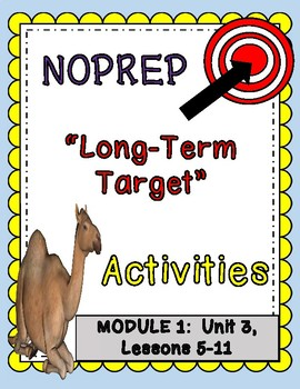Engage NY Expeditionary Learning 3rd Grade NOPREP Long-Term Target Activities
