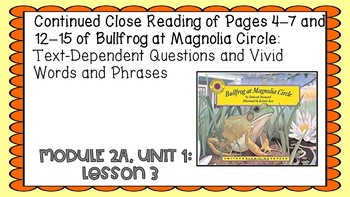 Engage NY Expeditionary Learning Module 2A Unit 1:  Lesson 3 PowerPoint