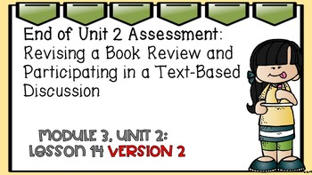 Engage NY Expeditionary Learning Module 3 Unit 2 Lesson 14 PowerPoint Version 2