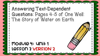 Engage NY Expeditionary Learning Module 4 Unit 1 Lesson 3 PowerPoint Version 2