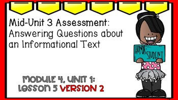 Engage NY Expeditionary Learning Module 4 Unit 1 Lesson 5 PowerPoint Version 2