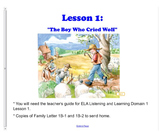 Engage NY First Grade ELA Domain 1 Fables and Folktales Lessons 1-6 and PP