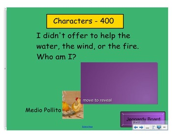 Engage NY First Grade ELA Domain 1 Fables and Stories Jeopary Review Game