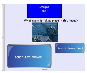 Engage NY First Grade ELA Domain 10 A New Nation Jeopary Review Game