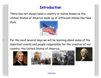 Engage NY First Grade ELA Domain 10 A New Nation Lessons 1 - 3