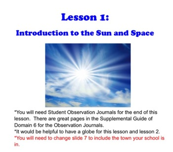 Engage NY First Grade ELA Domain 6 Astronomy Lesson 1