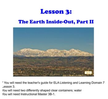 First Grade Engage NY ELA Domain 7 The History of the Earth Lessons 2 & 3